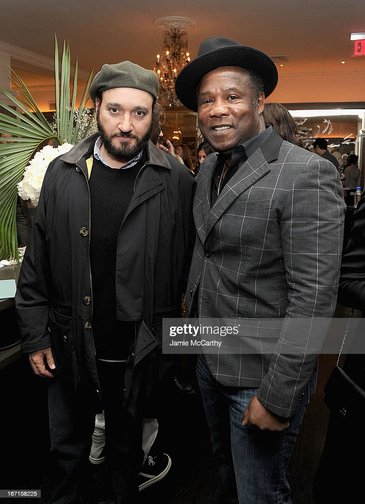 <a gi-track='captionPersonalityLinkClicked' href=/galleries/search?phrase=Gregg+Bello&family=editorial&specificpeople=243188 ng-click='$event.stopPropagation()'>Gregg Bello</a> and Isiah Whitlock, Jr. attend the after party for The Cinema Society with FIJI Water & Levi's screening of 'Mud' at Harlow on April 21, 2013 in New York City.