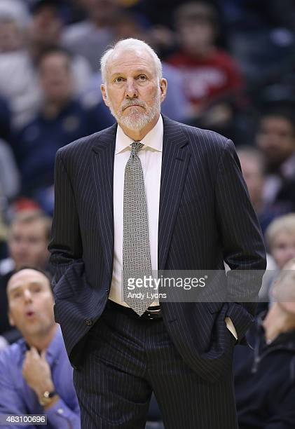 Gregg Popovich the head coach of the San Antonio Spurs earned his 1000th career for his NBA career tonight against the Indiana Pacers at Bankers Life...