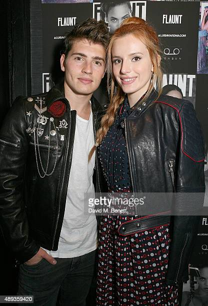 Gregg Sulkin and Bella Thorne attend the Flaunt Magazine and Luisaviaroma celebrate the release of the CALIFUK issue during London Fashion Week at...