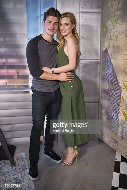 Gregg Sulkin and Bella Thorne visit The Lowdown with Diana Madison on June 29 2015 in Hollywood California