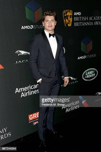 Gregg Sulkin attends the 2017 AMD British Academy Britannia Awards Presented by American Airlines And Jaguar Land Rover at The Beverly Hilton Hotel...