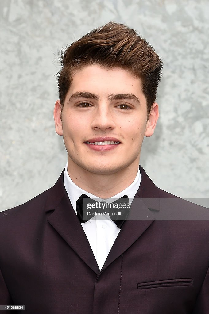 Gregg Sulkin attends the Emporio Armani show during Milan Menswear Fashion Week Spring Summer 2015 on June 23, 2014 in Milan, Italy.