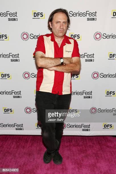 Gregg Turkington arrives to Adult Swim's Decker Season 5 Finale during SeriesFest Season 3 at Sie FilmCenter on July 1 2017 in Denver Colorado
