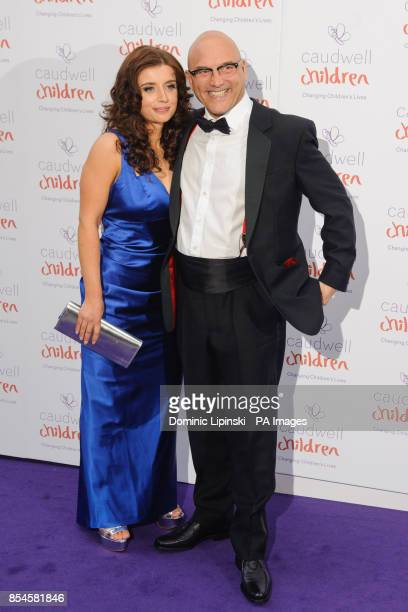 Gregg Wallace and AnneMarie Sterpini arriving at the Caudwell Children Butterfly Ball at the Grosvenor House hotel in central London