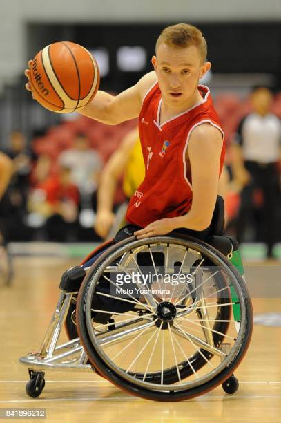 Gregg Warburton of Great Britain in action during the Wheelchair Basketball World Challenge Cup final between Australia and Great Britain at the...