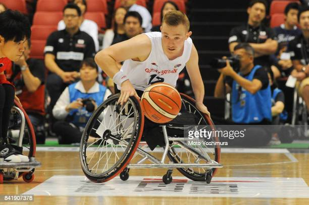 Gregg Warburton of Great Britain in action during the Wheelchair Basketball World Challenge Cup match between Great Britain and Japan at the Tokyo...
