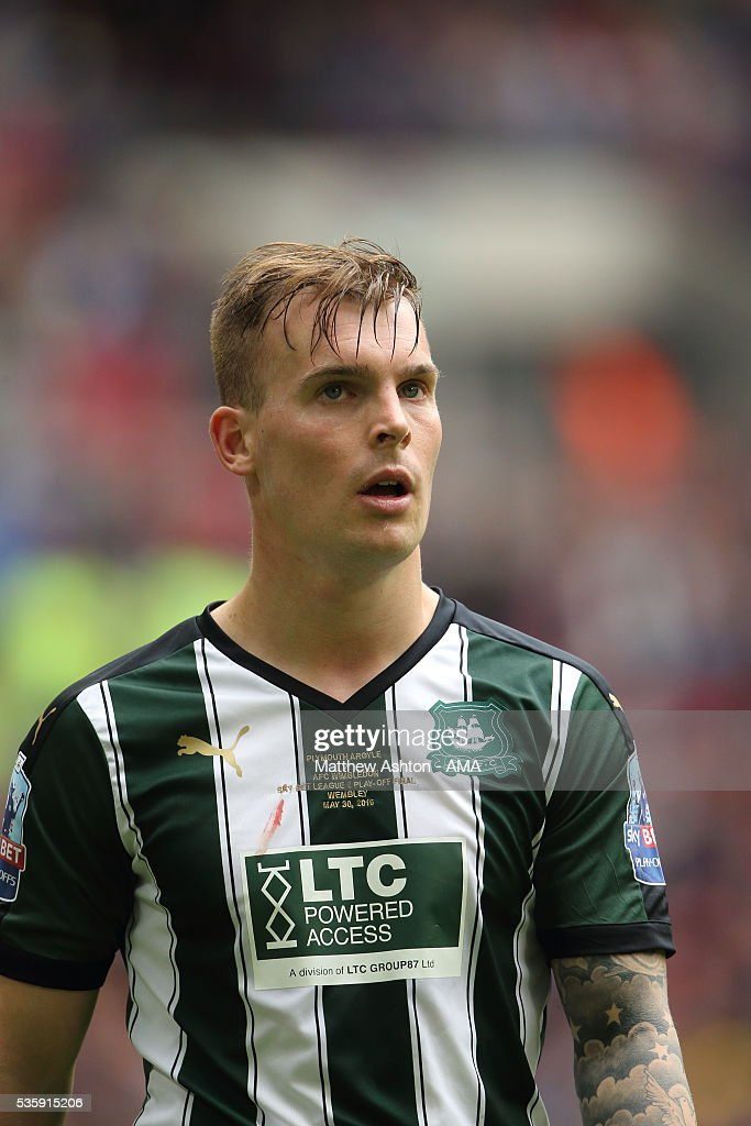 Gregg Wylde of Plymouth Argyle during the Sky Bet League Two Play Off Final between Plymouth Argyle and AFC Wimbledon at Wembley Stadium on May 30, 2016 in London, England.