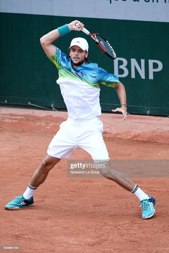 Gregoire Barrere during the Men's Singles first round on day three of the French Open 2016 at Roland Garros on May 24, 2016 in Paris, France.