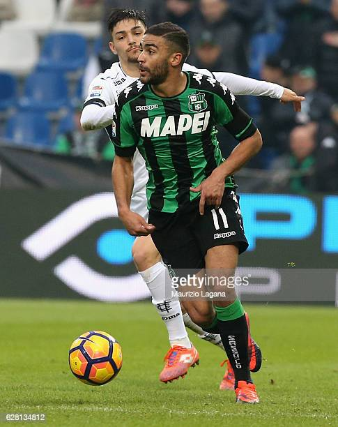 Gregoire Defrel of Sassuolo during the Serie A match between US Sassuolo and Empoli FC at Mapei Stadium Citta' del Tricolore on December 4 2016 in...