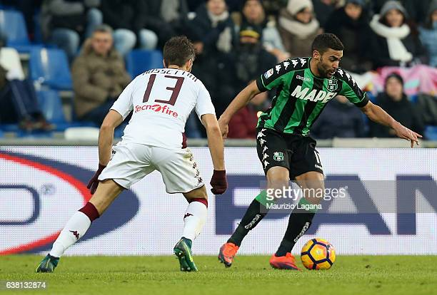 Gregoire Defrel of Sassuolo during the Serie A match between US Sassuolo and FC Torino at Mapei Stadium Citta' del Tricolore on January 8 2017 in...