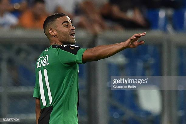 Gregoire Defrel of US Sassuolo Calcio celebrates after scoring the goal 20 during the UEFA Europa League match between US Sassuolo Calcio and...