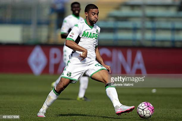 Gregoire Defrel of US Sassuolo Calcio in action during the Serie A match between Empoli FC and US Sassuolo Calcio at Stadio Carlo Castellani on...