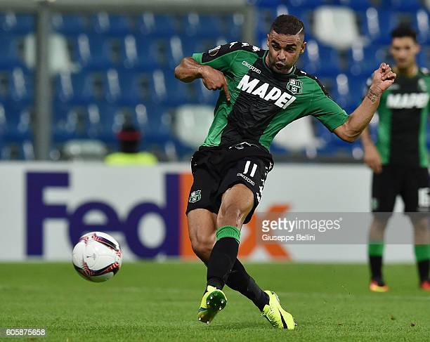 Gregoire Defrel of US Sassuolo Calcio scores the goal 20 during the UEFA Europa League match between US Sassuolo Calcio and Athletic Club at Mapei...