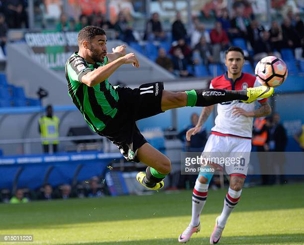 Gregoire Defrel of US Sassuolo in action during the Serie A match between US Sassuolo and FC Crotone at Mapei Stadium Citta' del Tricolore on October...