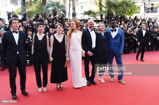 Gregoire Monsaingeon guest Director Leonor Serraille Laetitia Dosch guest Nathalie Mesuret and Souleymane Seye of 'Jeune Femme' attend the Closing...