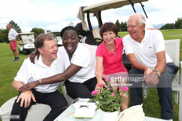 Gregor Groeger Dr Auma Obama sister of Barack Obama Roswitha Heidecker and Urs Zondler during the 2nd I'm Living Charity Golf Cup at Golfclub...