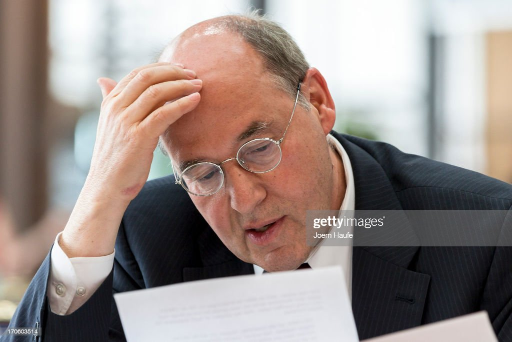 Gregor Gysi, leader of the Die Linke Bundestag faction, is seen at the party's federal convention on June 15, 2013 in Dresden, Germany. Die Linke, Germany's main left-wing political party, are meeting to decide on their policy program for German federal elections scheduled for September.