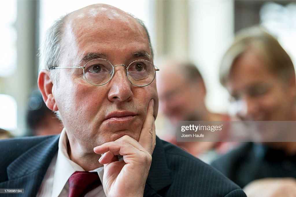 <a gi-track='captionPersonalityLinkClicked' href=/galleries/search?phrase=Gregor+Gysi&family=editorial&specificpeople=240410 ng-click='$event.stopPropagation()'>Gregor Gysi</a>, leader of the Die Linke Bundestag faction, looks on during the party's federal convention on June 15, 2013 in Dresden, Germany. Die Linke, Germany's main left-wing political party, are meeting to decide on their policy program for German federal elections scheduled for September.