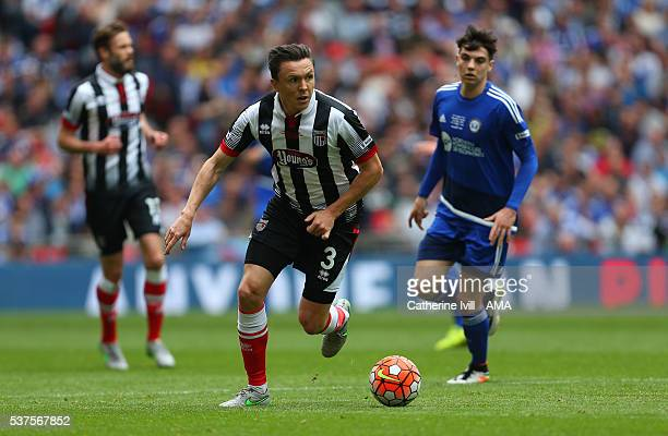 Gregor Robertson of Grimsby Town during The FA Trophy Final match between Grimsby Town and Halifax Town at Wembley Stadium on May 22 2016 in London...
