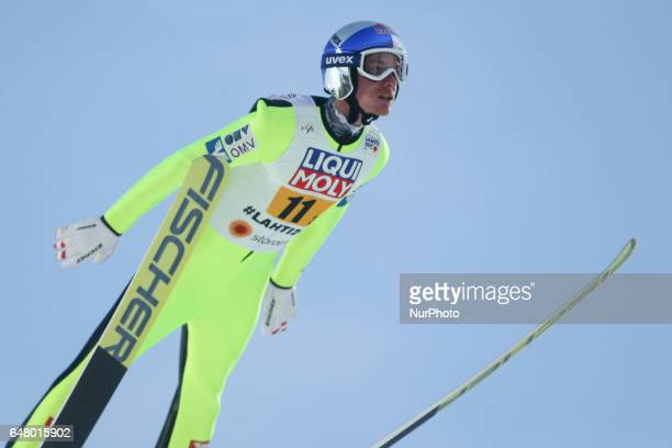 Gregor Schlierenzauer during the men's team ski jumping HS130 during the FIS Nordic World Ski Championships on March 4 2017 in Lahti Finland
