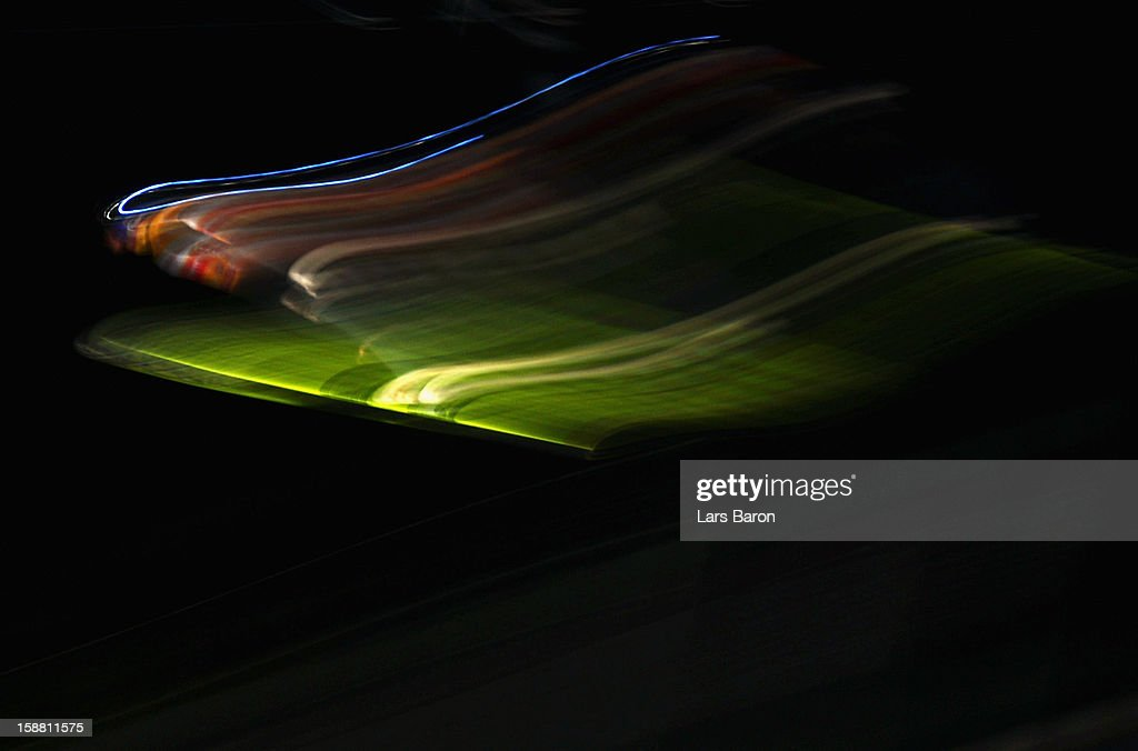 Gregor Schlierenzauer of Austria competes during the final round first leg for the FIS Ski Jumping World Cup event at the 61st Four Hills ski jumping tournament at the Erding Arena on December 30, 2012 in Oberstdorf, Germany.