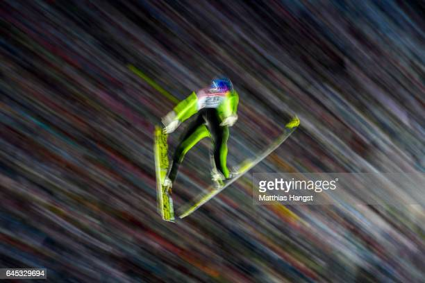 Gregor Schlierenzauer of Austria competes in the Men's Ski Jumping HS100 Final during the FIS Nordic World Ski Championships on February 25 2017 in...