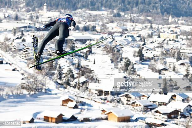 Gregor Schlierenzauer of Austria during the FIS Ski Jumping World Cup Vierschanzentournee on January 01 2015 in GarmischPartenkirchen Germany