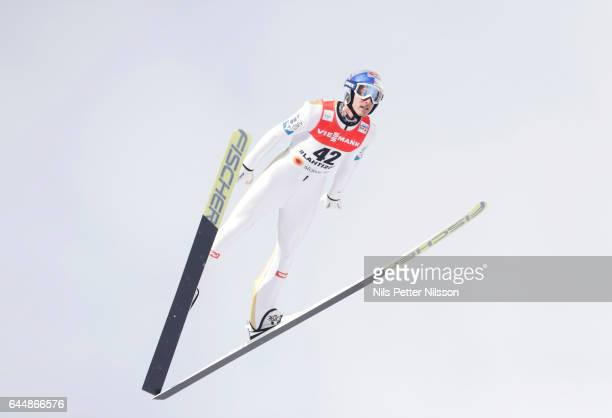 Gregor Schlierenzauer of Austria during the Men's Ski Jumping HS100 Training during FIS Nordic World Ski Championships on February 24 2017 in Lahti...