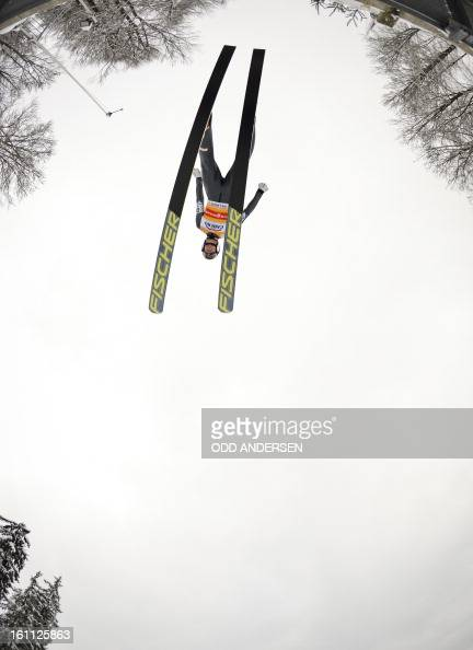 Gregor Schlierenzauer of Austria jumps during the FIS Ski Jumping World Cup team competition on the Muehlenkopfschanze hill in Willingen western...
