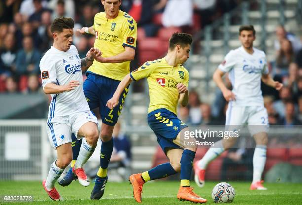 Gregor Sikosek of Brondby IF in action during the Danish Alka Superliga match between FC Copenhagen and Brondby IF at Telia Parken Stadium on May 14...