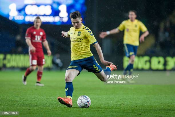 Gregor Sikosek of Brondby IF the Danish Alka Superliga match between Brondby IF and Lyngby BK at Brondby Stadion on March 19 2017 in Brondby Denmark
