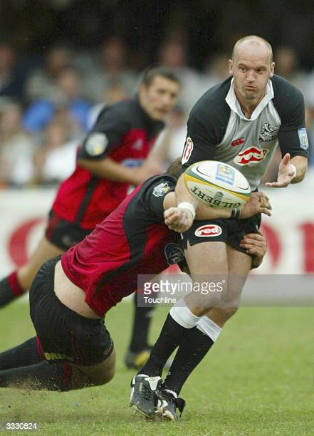 Gregor Townsend in action during the Super 12's game between the Sharks and the Canterbury Crusaders at the ABSA Stadium on April 10 2004 in Durban...