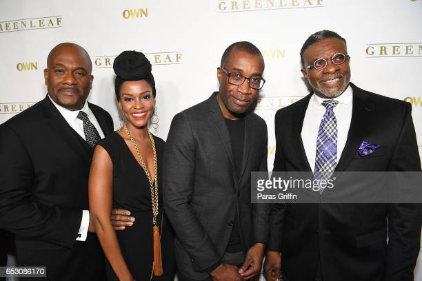 Gregory Alan Williams Kim Hawthorne Clement Virgo and Keith David attend 'Greenleaf' Season 2 Premiere Party at W Atlanta Midtown on March 13 2017 in...