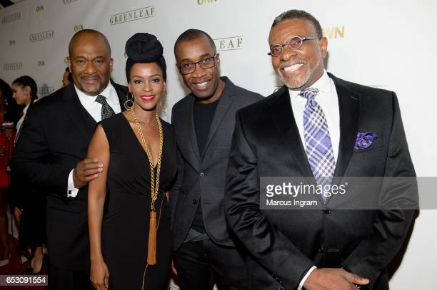 Gregory Alan Williams Kim Hawthorne Clement Virgo and Keith David attend 'Greenleaf' season 2 premiere Atlanta screening at SCADshow on March 13 2017...