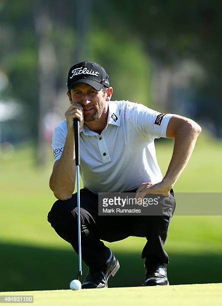 Gregory Bourdy of France at the 10th during the second round of the Turkish Airlines Open at The Montgomerie Maxx Royal Golf Club on October 30 2015...