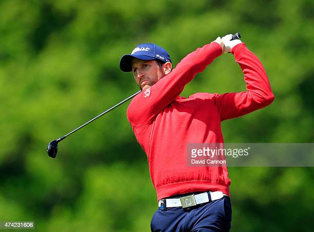 Gregory Bourdy of France in action during day 1 of the BMW PGA Championship at Wentworth on May 21 2015 in Virginia Water England