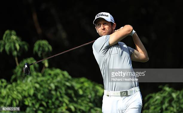 Gregory Bourdy of France tees off on the 10th during day one of The Alfred Dunhill Championship at Leopard Creek Country Golf Club on December 1 2016...