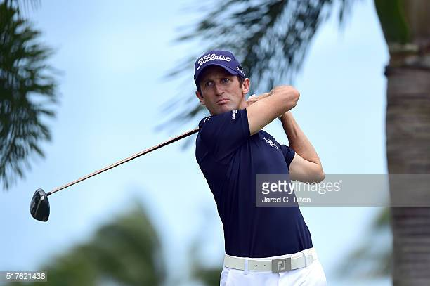 Gregory Bourdy of France tees off on the second hole during the third round of the Puerto Rico Open at Coco Beach on March 26 2016 in Rio Grande...