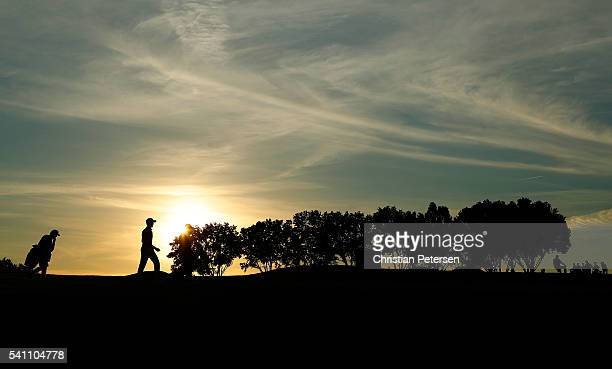 Gregory Bourdy of France walks on the 12th hole during the third round of the US Open at Oakmont Country Club on June 18 2016 in Oakmont Pennsylvania