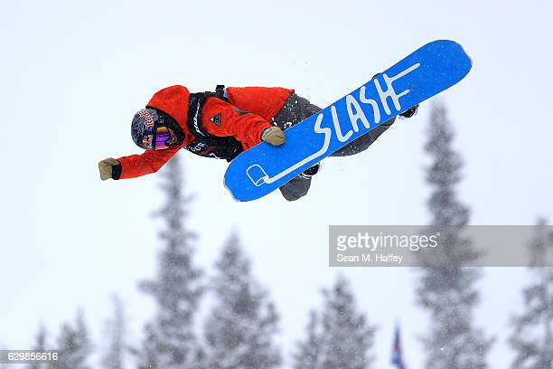 Gregory Bretz competes in the qualifying round for the 2017 US Snowboarding Grand Prix at Copper Mountain on December 14 2016 in Copper Mountain...