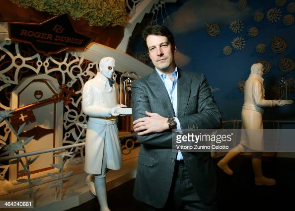 Gregory Bruttin poses during Roger Dubuis at the SIHH 2014 day 2 on January 21 2014 in Geneva Switzerland