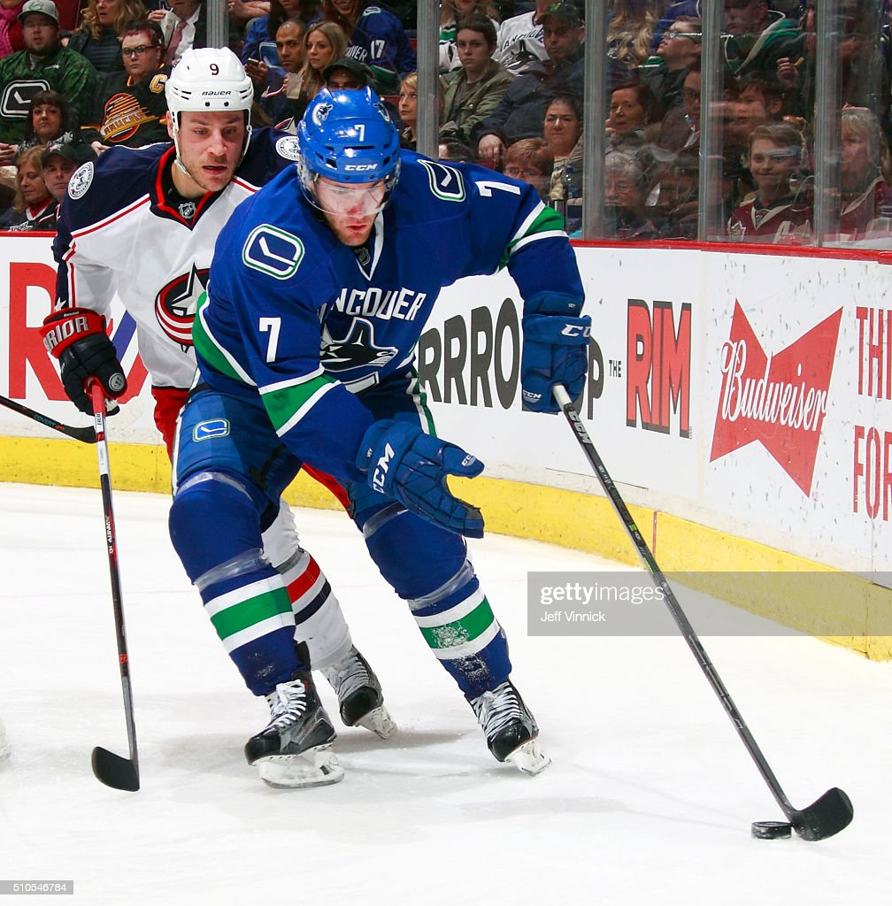 Columbus Blue Jackets V Vancouver Canucks | Getty Images