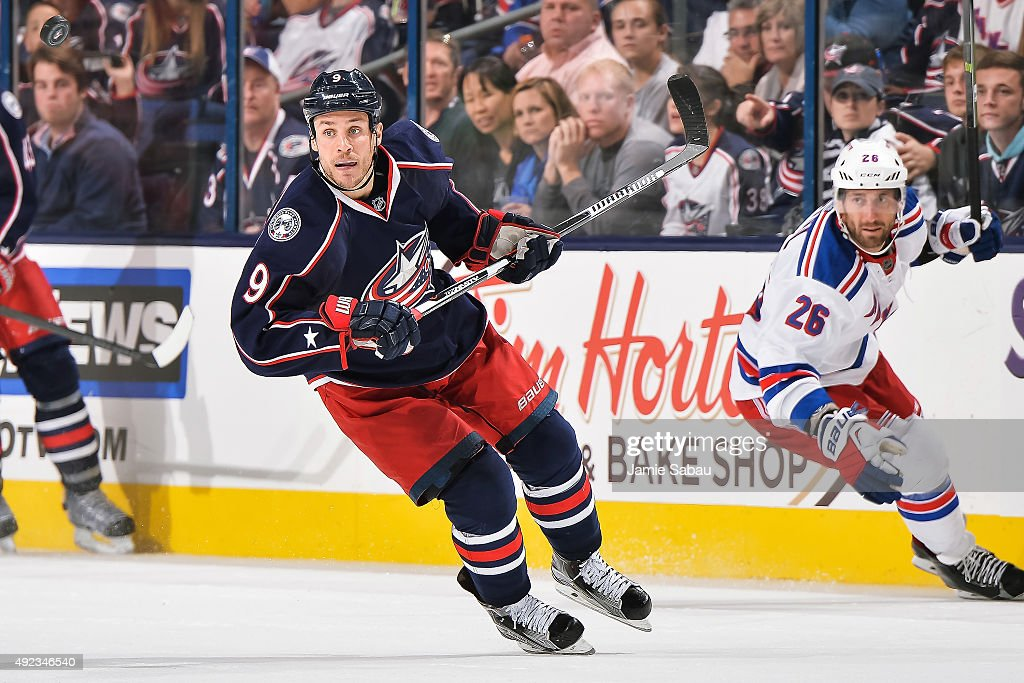 Gregory Campbell of the Columbus Blue Jackets skates against the New York Rangers on October 9 2015 at Nationwide Arena in Columbus Ohio