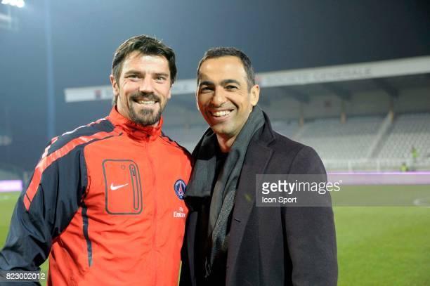 Gregory COUPET Youri DJORKAEFF Auxerre / PSG 26eme journee de Ligue 1 Auxerre