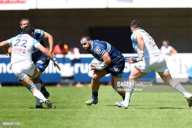 Gregory Fitchen of Montpellier during the Top 14 match between Montpellier and Bayonne on April 16 2017 in Montpellier France