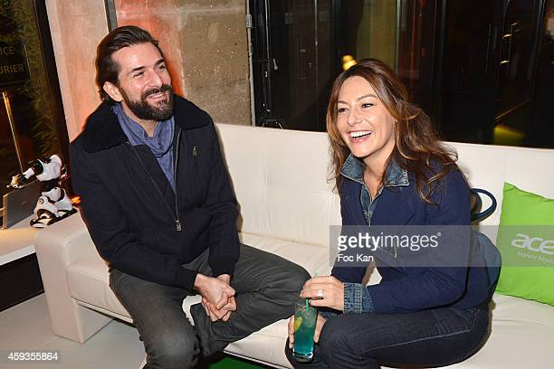 Gregory Fitoussi and Shirley Bousquet attend the Acer Pop Up Store Launch Party at Les Halles on November 20 2014 in Paris France