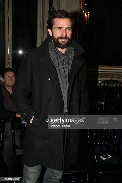 Gregory Fitoussi attends the Valentino Men Autumn / Winter 2013 show as part of Paris Fashion Week on January 16 2013 in Paris France