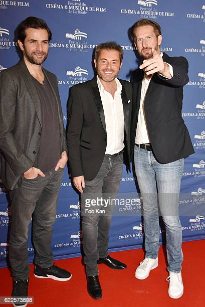 Gregory Fitoussi Jerome Anthony and PR organizer Sam Bobino attend the photcall of ÒDemain Tout CommenceÓ La Baule Premiere at the Gulf Stream Cinema...