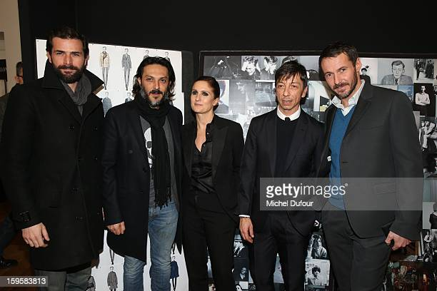 Gregory Fitoussi Olivier Sitruk Maria Grazia Chiuri Pier Paolo Piccioli and Julien Boisselier attend the Valentino Men Autumn / Winter 2013 show as...