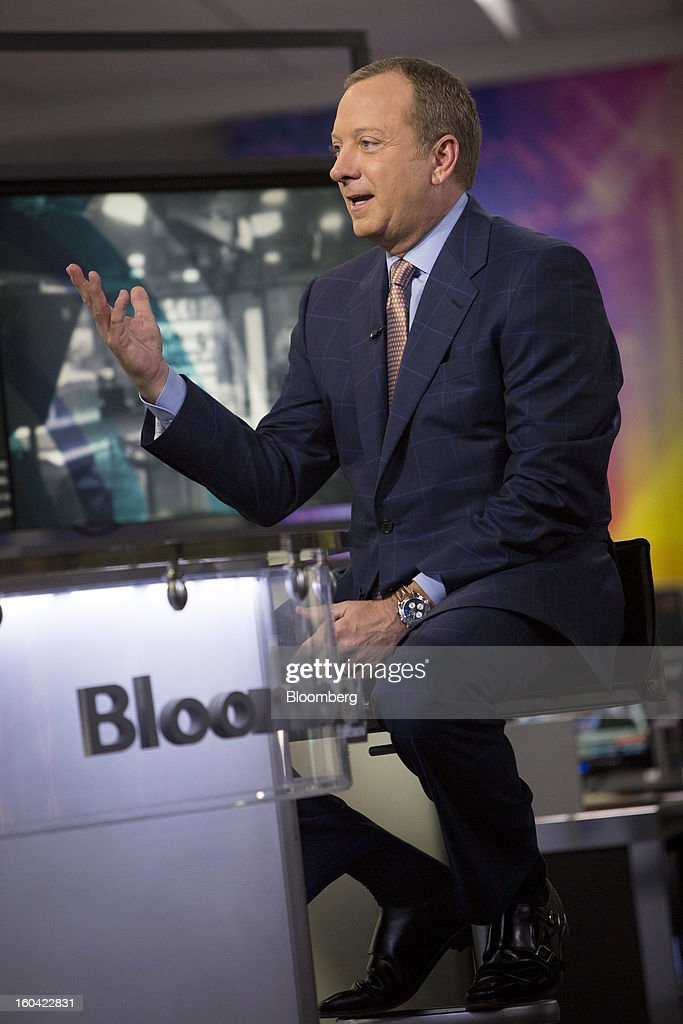 Gregory 'Greg' Rayburn, chief executive officer of Hostess Brands Inc., speaks during a Bloomberg Television interview in New York, U.S., on Thursday, Jan. 31, 2013. Rayburn discussed the bankrupt baker's decision to choose a joint offer from Apollo Global Management LLC and C. Dean Metropoulos & Co. as the lead bid for Twinkies and other cake brands. Photographer: Scott Eells/Bloomberg via Getty Images
